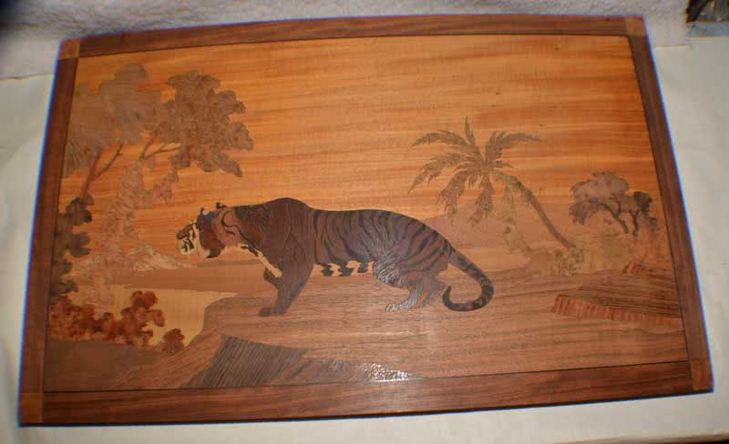 Antique Brunswick Balke Collender - Tiger Marquetry Picture