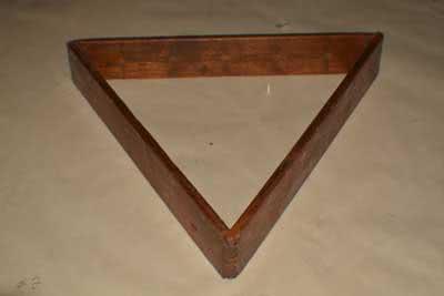 Antique Billiard Pool Table Triangle