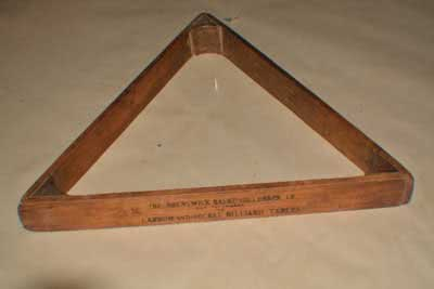 Antique Brunswick Billiard Pool Table Triangle 124