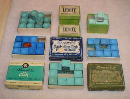 Antique Brunswick Manhattan Club & Lexite Billiard Chalk