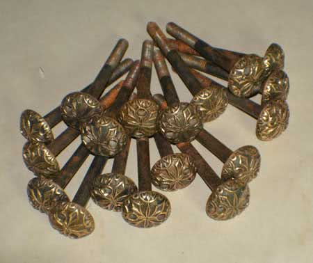 Antique H.W. Collender Company Imperial Table Rail Bolt Set