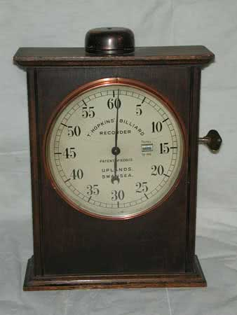 Antique Hopkins Billiard Room Time Clock
