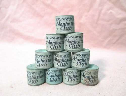 Antique Manhattan Club Round Double Sided Billiard Chalk