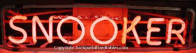 Antique Snooker Neon Sign