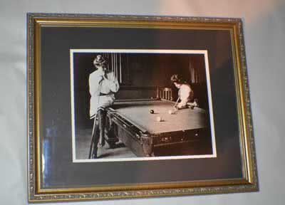 Antique Spink's Billiard Company Promo Ladies Playing Pool c1900
