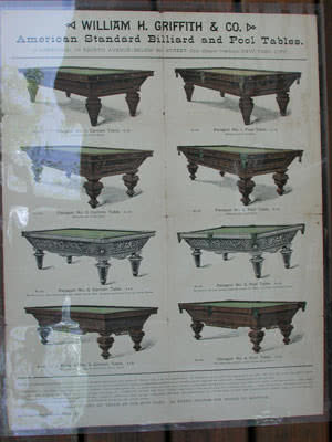 Antique W H Griffith Tables & Accessories Poster