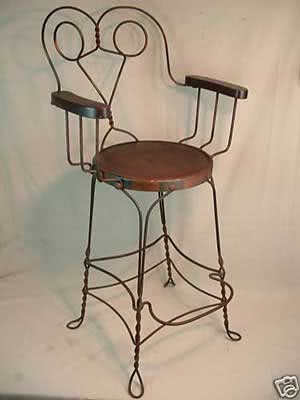 Antique Wire Billiard Room Chairs