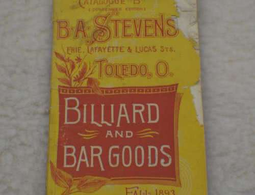 Antique Pool Billiard B A Stevens Billiard And Bar Catalog c 1893