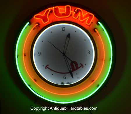 Collectible Bakery Yum Neon Clock
