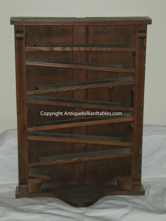 Antique Brunswick Balke Collender Billiard Company Zig Zag Mechanical Wall Mounted Pool Ball Rack