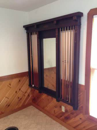 Antique Brunswick Balke Collender Arcade Billiard Cue Rack