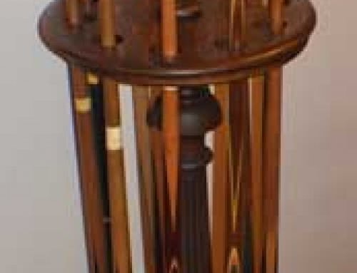 Antique Brunswick Balke Collender Company Billiard free Standing Pool Cue Rack