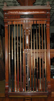 Antique Brunswick Balke Collender Jewel Pool Cue Rack