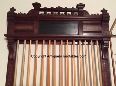 Antique Brunswick Balke Collender Company Brilliant Novelty Pool Cue Rack