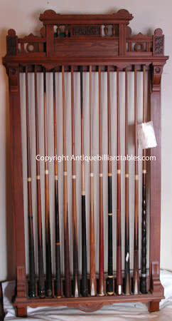 Antique Brunswick Balke Collender Company Manhattan Pool Cue Rack