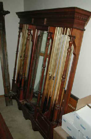 Antique Brunswick Balke Collender Billiard Cue Rack