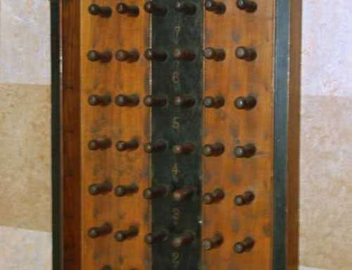 Antique Brunswick Balke Collender Pool Ball Rack