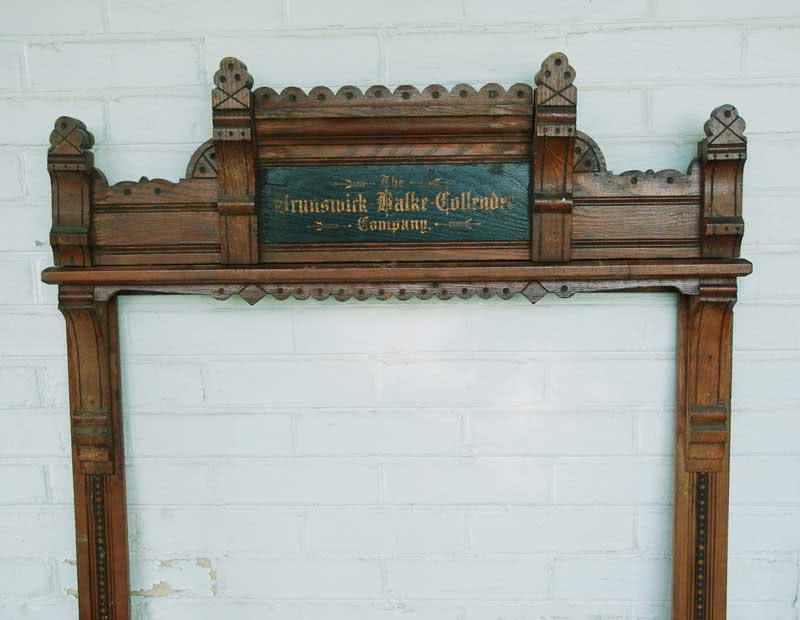 Antique Brunswick Balke Collender Pool Cue Rack c 1880s