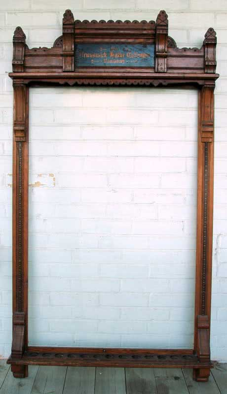 Antique Brunswick Balke Collender Pool Billiard Cue Rack c 1880s