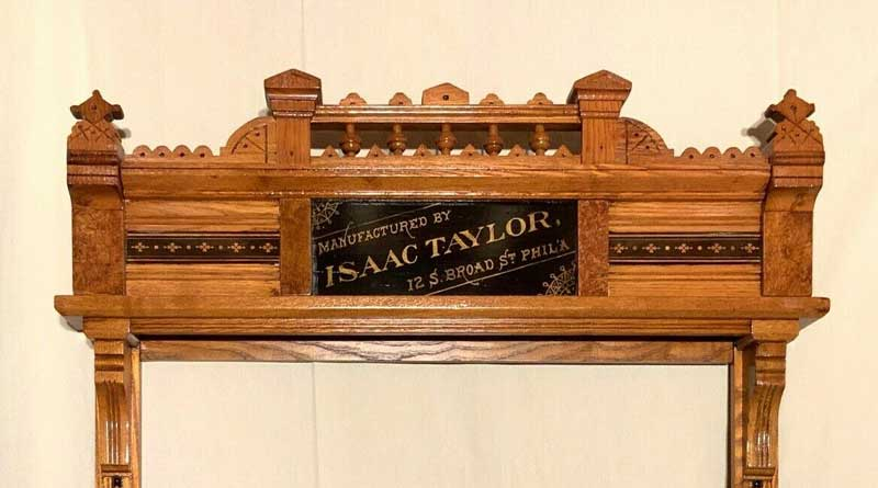 Antique Isaac Taylor Pool Cue Rack c1870's