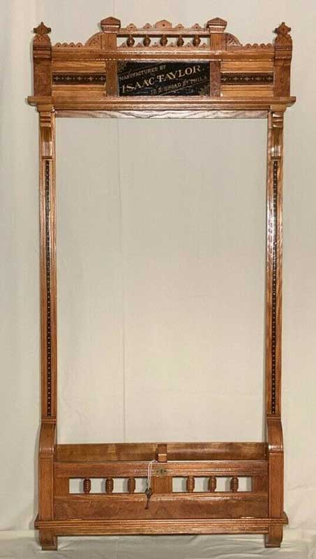 Antique Isaac Taylor Pool Cue Rack c1870s