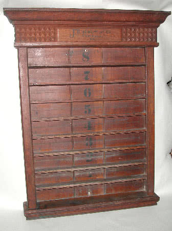 Antique J.D. Holt & Company Pool Ball Display Rack