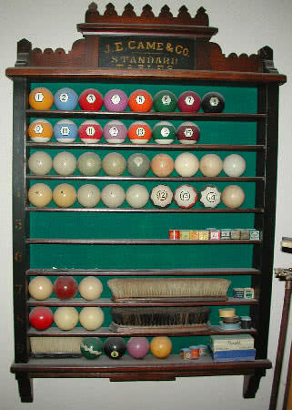 Antique J.E. Came Standard Tables Billiard Pool Ball Rack