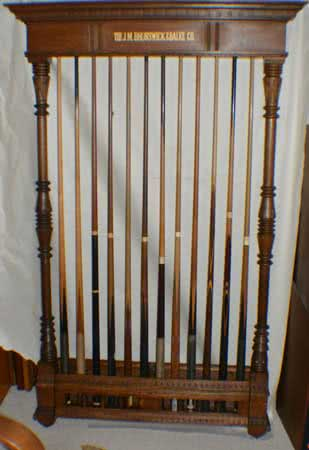 Antique J.M. Brunswick & Balke Company Billiard Club Pool Cue Rack
