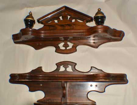 Antique J.M. Brunswick & Balke Company Victorian Monarch Pool Cue Rack