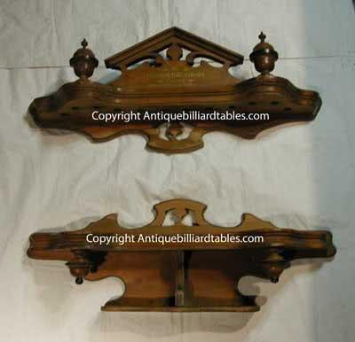 Antique j.M. Brunswick & Balke Company Victorian Monarch Pool Cue Rack Maple