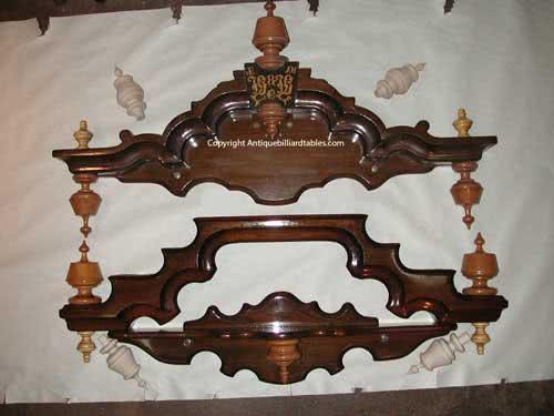Antique J.M. Brunswick & Balke Company Victorian NonPareil Novelty Pool Cue Rack