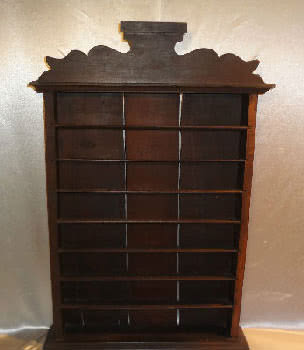 Antique J Magann Billiard Company Wall Mounted Pool Ball Rack