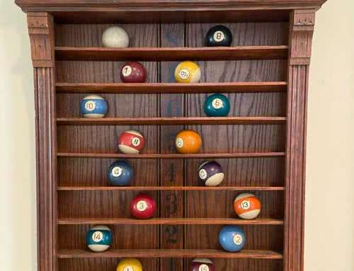 Antique Brunswick Balke Collender – Jewell Pool Ball Rack c1890s
