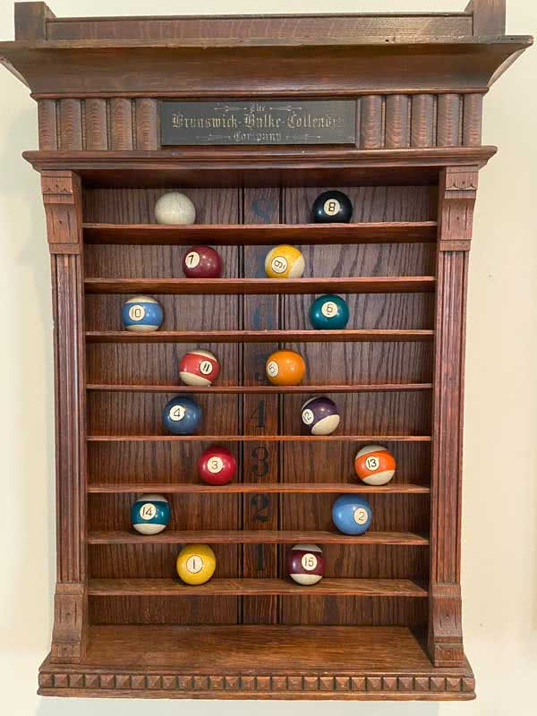 Antique Brunswick Balke Collender - Jewell Pool Ball Rack c1890s