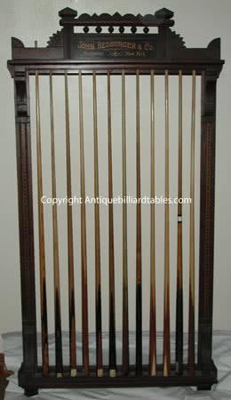 Antique John Bessunger & Co Billiard Cue Rack