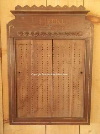 Antique L Decker Billiard Company New York Pin Pool Board c1868