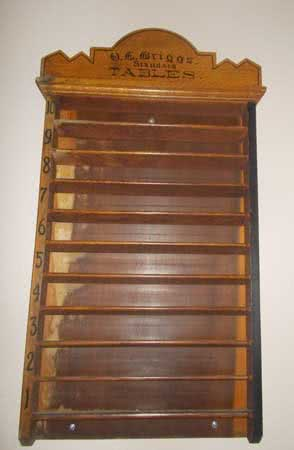 Antique Oliver Briggs Pool Ball Rack