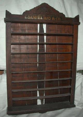 Antique Samuel May Billiard Company Wall Mounted Pool Ball Rack c1880s