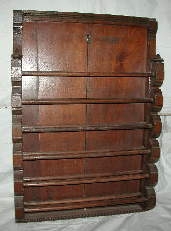 Antique Victorian Mahogany Wall Mounted Pool Ball Rack c1860's