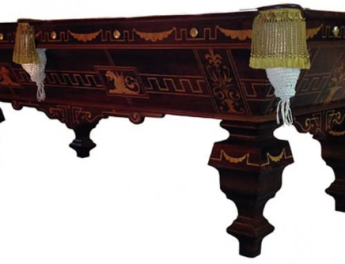 Antique A Bloch Co, Inlaid Rosewood Pool Table