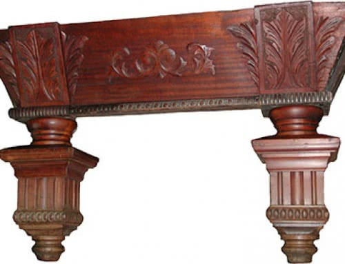 Antique Brunswick Balke Collender Co – Carved