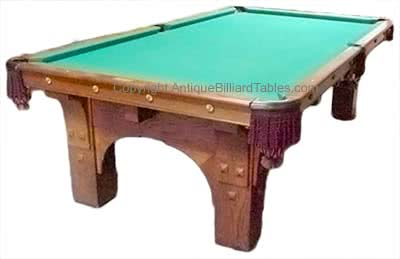 Antique Brunswick Balke Collender Billiard Company St Bernard Mission Pool Table
