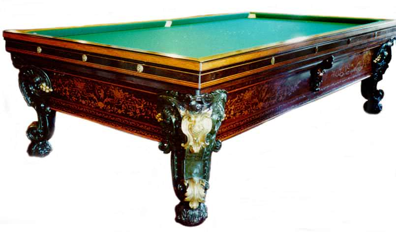 French Marquetry Antique Billiard Table Antique Billiard Tables - Brunswick century pool table