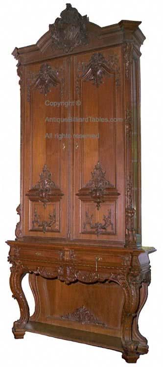 Antique Kaiser Wilhelm billiard cue cabinet