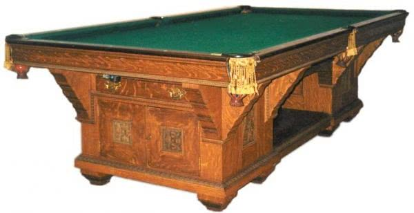 Antique Brunswick-Balke Collender Cabinet No. 1 Pool Table