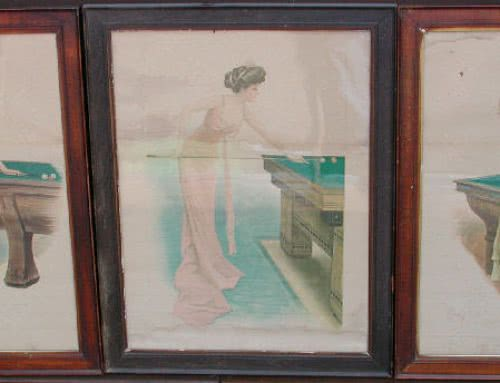 Antique Archie Gunn Girls Original water Colors Set 1910