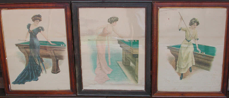 Antique Archie Gunn Girls 1910 Original Water Colors Set