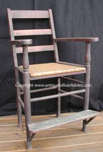 Antique Billiard Chair Woven Seat