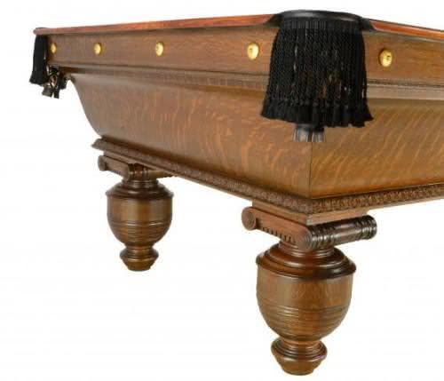 Antique Brunswick Cambridge Pool Table