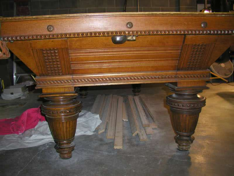 Antique Brunswick Union League Pool Table